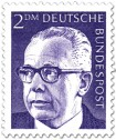 Briefmarke: Gustav Heinemann (2 DM)