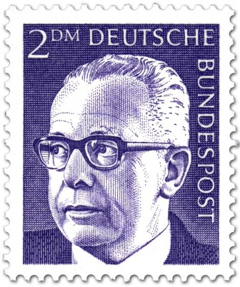 Briefmarke: Gustav Heinemann (2 DM)