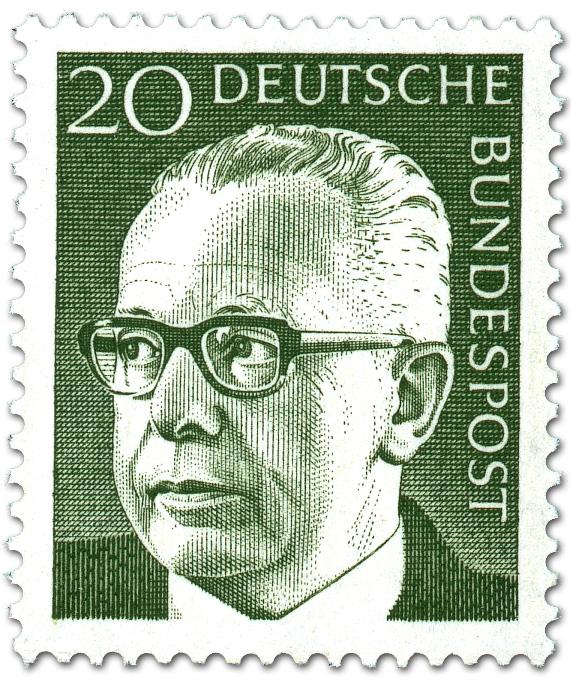 Gustav Heinemann 20 Briefmarke 1970