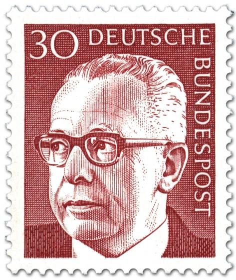Briefmarke: Gustav Heinemann (30)