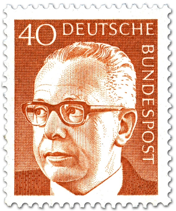 Gustav Heinemann 40 Briefmarke 1970