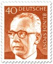 Briefmarke: Gustav Heinemann (40)