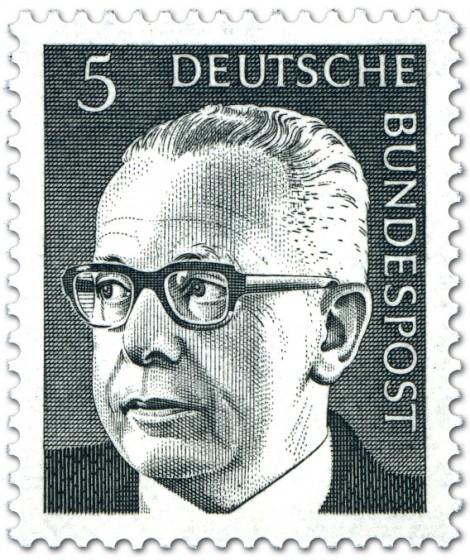Briefmarke: Gustav Heinemann (5)