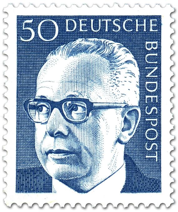 Gustav Heinemann 50 Briefmarke 1970