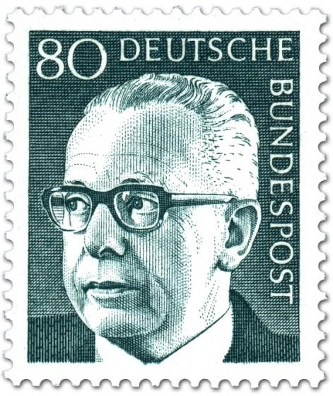 Briefmarke: Gustav Heinemann (80)