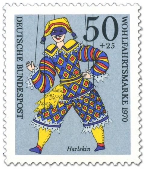 Briefmarke: Harlekin Marionette