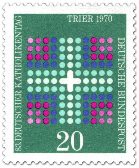 Briefmarke: Kreuz - Katholikentag Trier 1970