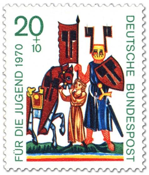 Briefmarke: Ritter Wolfram von Eschenbach