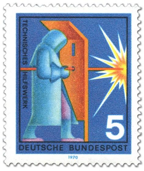 Briefmarke: Technisches Hilfswerk: Sauerstofflanze