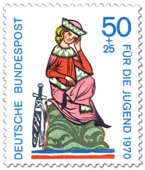 Briefmarke: Walther von der Vogelweide (Minnesänger)