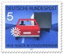 Briefmarke: Auto fahren: Blinken vor dem Überholen