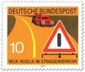 Briefmarke: Autopanne: Warndreieck und Warnblinklicht