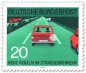 Briefmarke: Autobahn: nach dem Überholen blinken
