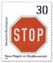 Briefmarke: Briefmarke: Stopschild
