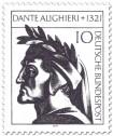 Briefmarke: Dante Alighieri (Dichter, Philosoph)