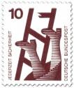 Briefmarke: Defekte Leiter - Sturzgefahr