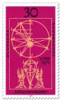 Briefmarke: Erde Kugel Modell Johannes Kepler