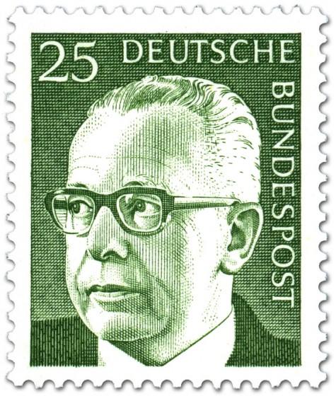 Briefmarke: Gustav Heinemann (25)
