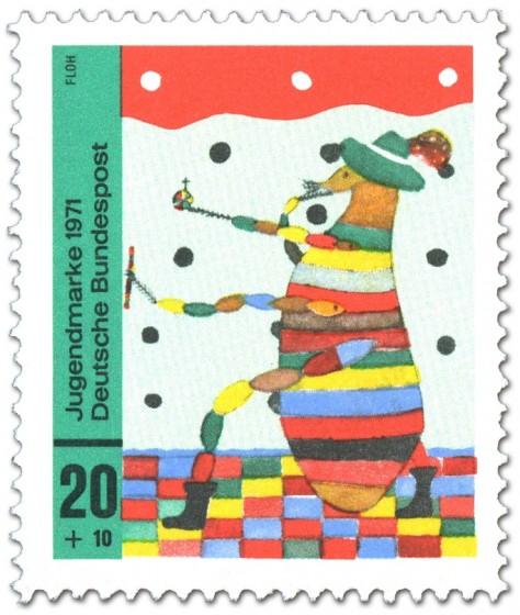 Briefmarke: Kinderbild: Floh
