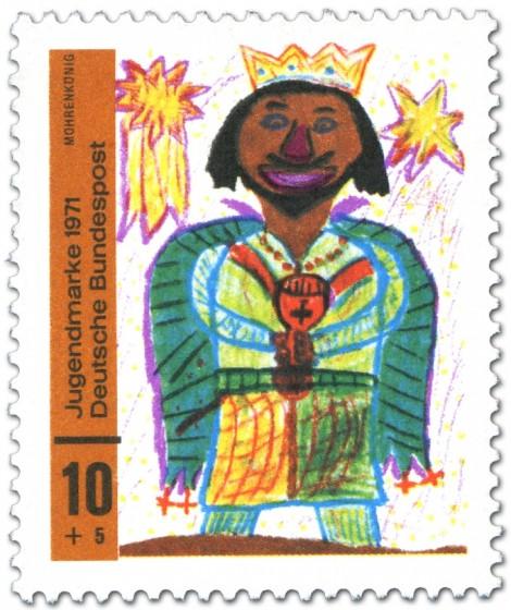 Briefmarke: Kinderbild: Mohrenkönig