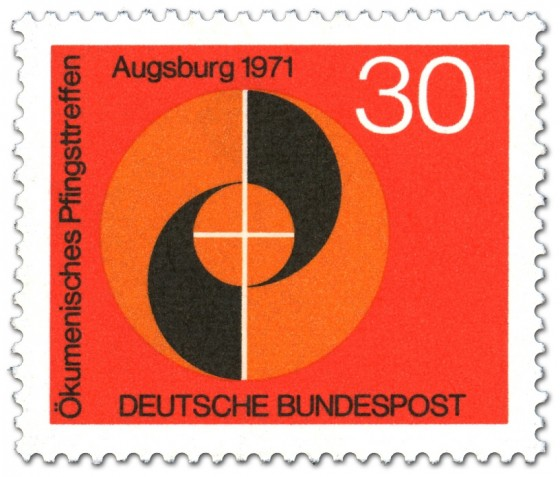 Briefmarke: Kreise und Spirale (Ökumenisches Pfngsttreffen)