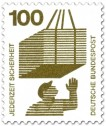 Briefmarke: Lastkran - schwebende Gefahr