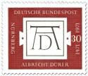 Briefmarke: Monogramm AD - 500. Geburtstag von Albrecht Dürer