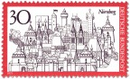 Briefmarke: Nürnberg Stadtansicht