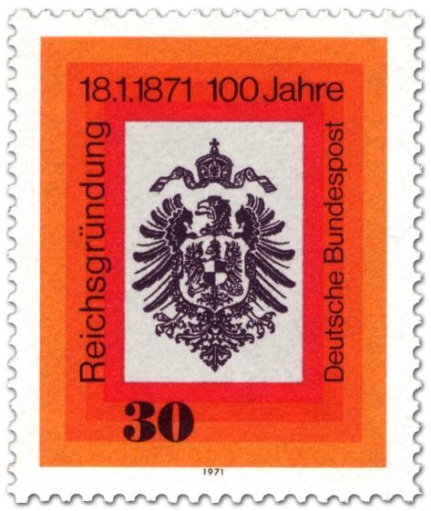 Briefmarke: Reichsadler mit Krone (Reichsgründung 1871)