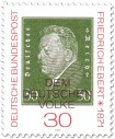 Briefmarke: Friedrich Ebert (dt. Reichspräsident)