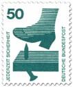 Briefmarke: Schuh - Nagel im Brett