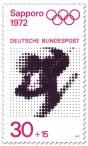 Briefmarke: Ski Abfahrtslauf  (Olympische Winterspiele Sapporo 1972)