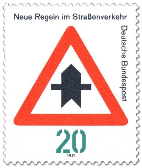 Briefmarke: Verkehrsschild 301: Vorfahrt