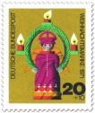 Briefmarke: Weihnachtsengel aus Holz (Weihnachtsmarke 1971)