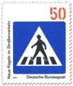 Briefmarke: Verkehrsschild: Zebrastreifen für Fussgänger