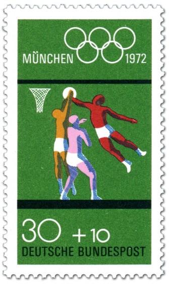 Briefmarke: Basketball (München 1972)