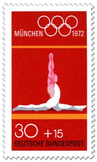 Briefmarke: Bodenturnen Spagat (Olympische Spiele 1972)