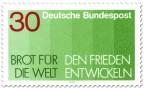 Briefmarke: Brot für die Welt -  den Frieden entwickeln