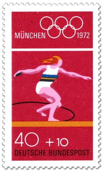 Briefmarke: Diskuswurf (Olympische Sommerspiele 1972 in München)