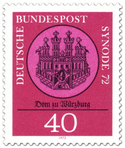 Briefmarke: Dom zu Wuerzburg - Synode 72