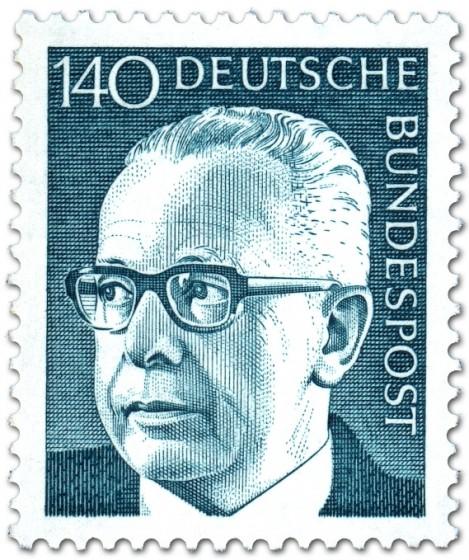 Briefmarke: Gustav Heinemann (140)