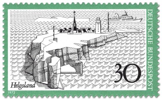 Briefmarke: Insel Helgoland