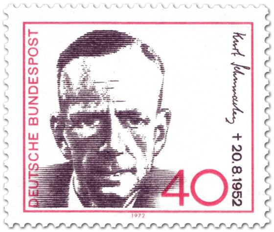 Briefmarke: Kurt Schumacher (SPD Politiker)