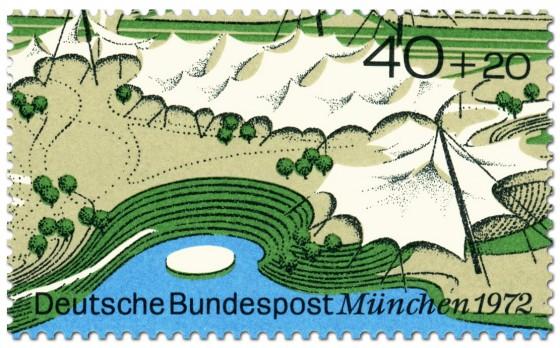 Briefmarke: München: Mehrzweckhalle und Schwimmstadion