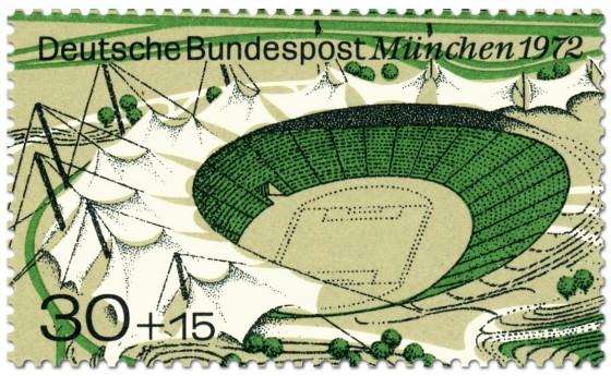 Briefmarke: Olympiastadion München 1972