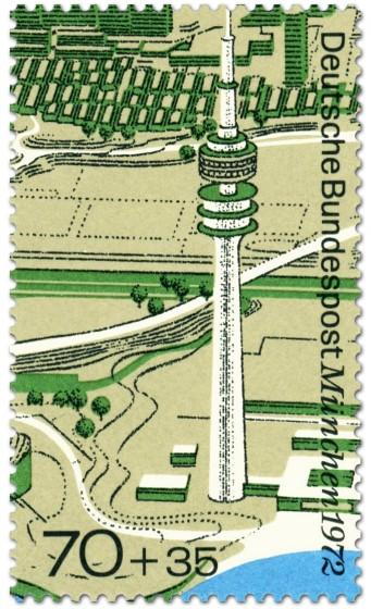Briefmarke: München: Olympiaturm