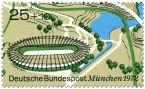 Briefmarke: Velodrom im Münchener Olympiapark