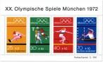 Briefmarke: Olympiablock 2 (Sportarten, Sommerspiele München 1972)