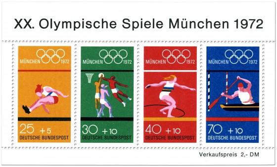 Olympiablock - Briefmarken von 1972