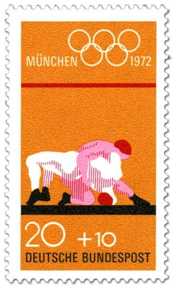 Briefmarke: Ringer ringen (Olympische Spiele 1972)